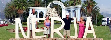 Carol and I with Brian and Sue at Nerja
